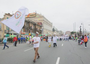 04.07.2015 - Demonstration in honor of the 155 anniversary of Vladivostok